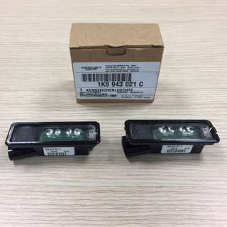 VW Golf Original LED number plate lights