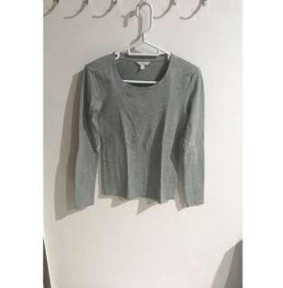 Basic Long Sleeve Top (grey)
