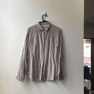 Uniqlo linen shirt in beige