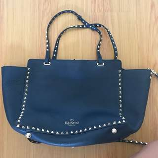 SALE: Valentino Rockstud Tote in Navy