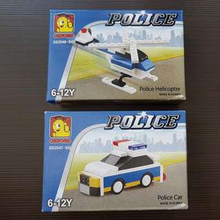 Bundle of Oxford Brick Toy Police Vehicles