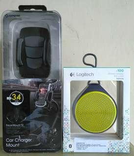 Logitech X100 + Capdase Handphone Holder