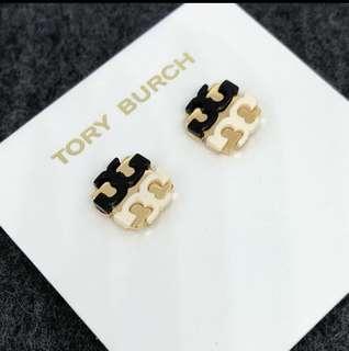 Tory Burch Earrings Black&White 黑白經典Logo 耳環