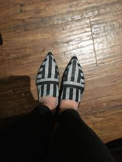Zara striped flats size 37