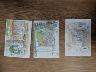 STUDIO GHIBLI Cards with envelope (Set of 3)