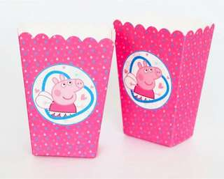 [NEW] Peppa Pig Party Popcorn Box 6pc