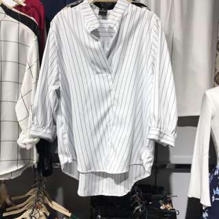 Striped Blouse Korean Fashion