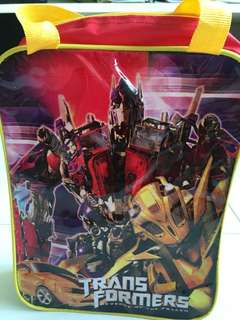 Transformer lunch and water bottle bag
