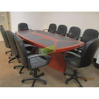 CT-240 CONFERENCE TABLE MAHOGANY_Office Partition Furniture