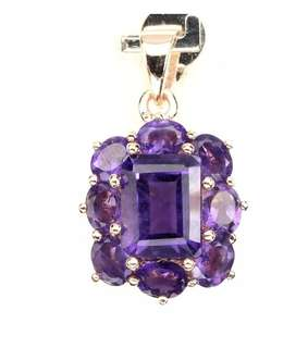 Gorgeous Intense Purple Amethyst Pendant