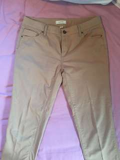 Beige fitted 'Country Road' pants