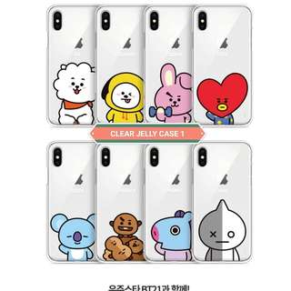 BT21 JELLY/CLEAR PHONE CASE (OFFICIAL/LICENSED BY LINE FRIENDS)