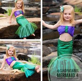 Mermaid Swimwear Swimsuit for Little Girls