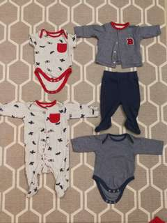 Mothercare set - jumpsuit, rompers, sweater, tights