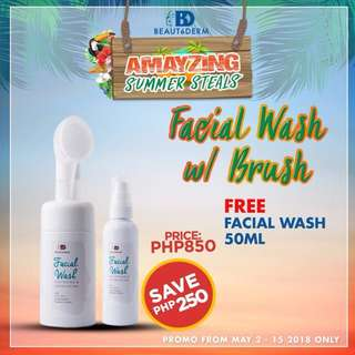 BUY 1 Beautederm Facial Wash with Pump Brush FREE 50ml FW