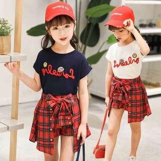 預購 新款女大童韓版時尚兩件套裝