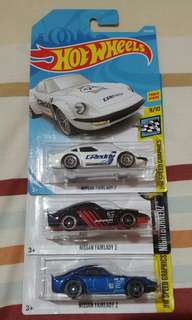 Hot Wheels Nissan Fairlady Z Lot of 3 Pieces