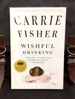 《New Book Condition + First-Ever Memoir/ Autobiography》Carrie Fisher - WISHFUL DRINKING : A Life Ripped From The Headlines