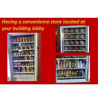 Franchise for food, snacks and beverages dispensing machines