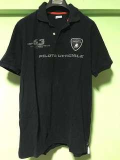 Lamborghini black polo t-shirt