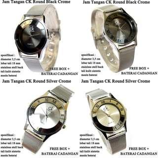 jam tangan Wanita ck Stainless Crome