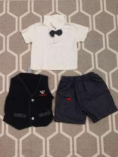 Ohm & Emmy set - Shirt, Vest, Shorts