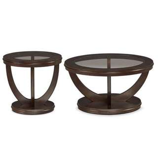 BRAND NEW GLASS COFFEE TABLE & END TABLE SET (CT/ET01)
