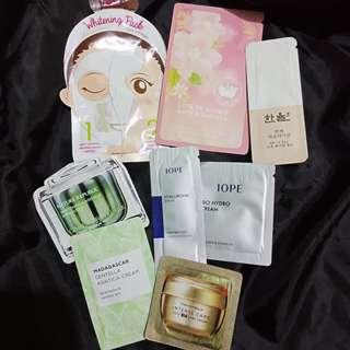 K-beauty samples