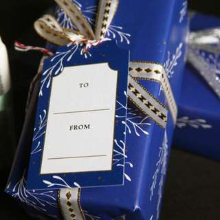 Gift tag - blue