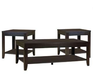 BRAND NEW 3 PIECE COFFEE TABLE & END TABLES SET (CT/ET02)