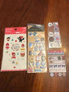 Clear, spongy, paper stickers