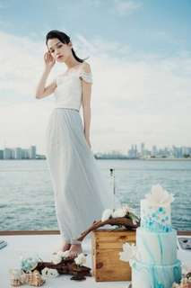 Orinoco Flow Maxi Tulle Skirt (Light Grey)