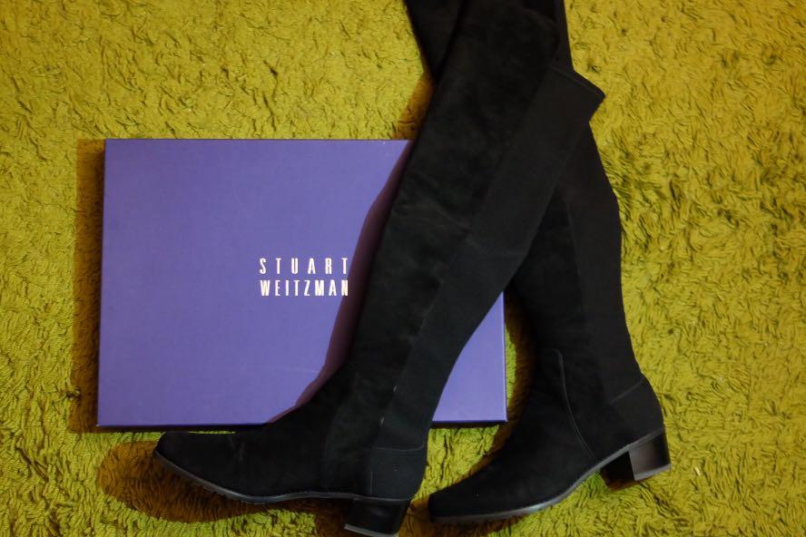 ea3a5938167a 100% Genuine Stuart Weitzman Reserve Black Suede Woman Knee high ...