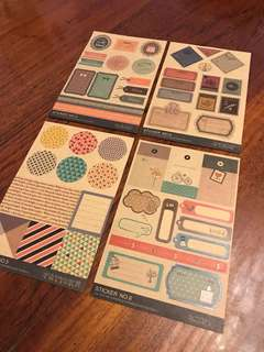 Brown paper stickers