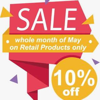SALE for the month of May