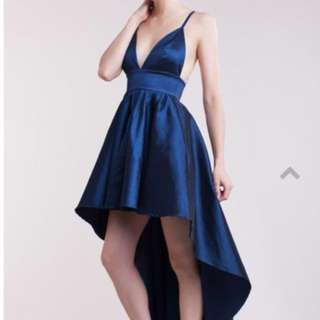 Navy blue gown or dress for semi formal or prom