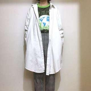 🔥白襯衫 挺厚布料 mooncat自訂款