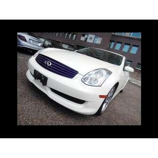 2006年Infiniti 極致G35 COUPE 白色黑內裝 二手車中古車