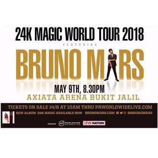 Bruno Mars 24k Malaysia 2018