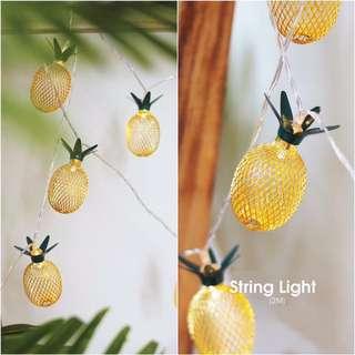 Golden Pineapple String Light