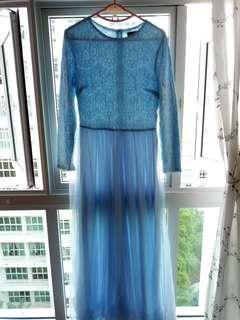 Zalia Lace Blue Dress