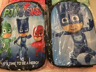 Instock now pj Mask bag ht 42cm brand new .. pencils box avail at $8.90 if take as a set will be $34.90