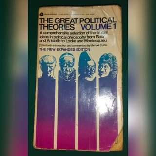 The Great Political Theories Volume 1