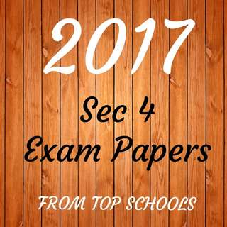 👍HOT 2017 SECONDARY 4 EXAM PAPERS FROM TOP SCHOOLS | O LEVEL TEST PAPERS 2017