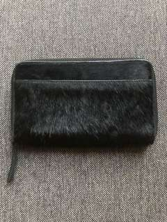 Status anxiety black pony skin wallet- New Without tags