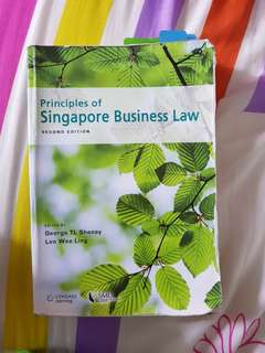 SMU Principles Of Singapore Business Law 2nd Edition