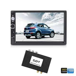 7-Inch Car Media Player - Digital TV Receiver Box, HD Display, GPS Navigation Support, Bluetooth, Hands Free Calling (CVAIY-C646)