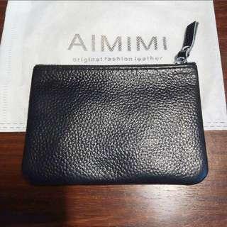 🚚 AIMIMI黑色手拿零錢包 附防塵袋