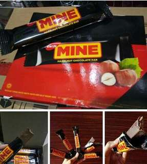 Mine hazelnut choco bar