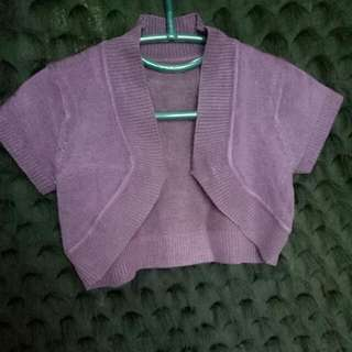 Cardigan Ungu Crop